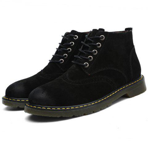 Fashionable Casual Boots for Men - BLACK 46