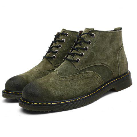 Fashionable Casual Boots for Men - GREEN 40