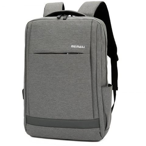 USB Port Unisex Fashion Backpack - GRAY