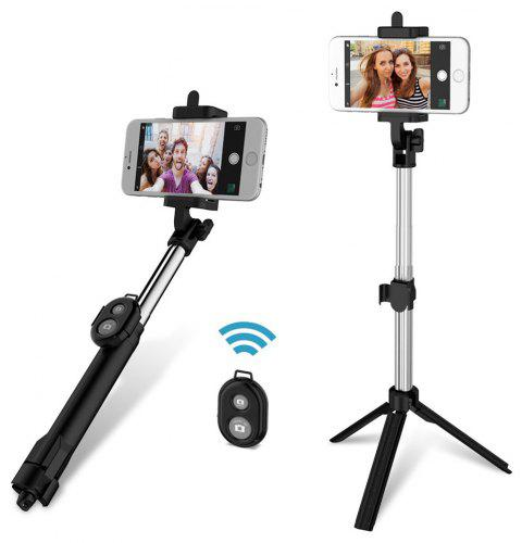 gocomma 3 in 1 Handheld Extendable Bluetooth Selfie Stick Tripod  Monopod Remote for iOS iPhone Android Smart Phone - BLACK