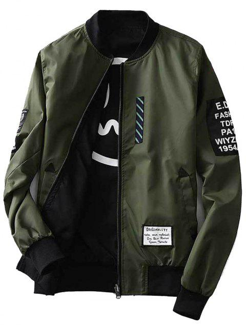 Trendy Classic Comfortable Double Side Wear Slim Baseball Jackets for Men - ARMY GREEN XL