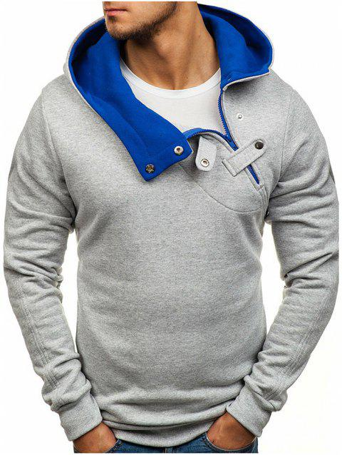 Creative Long Sleeve Plush Hoodies for Men - LIGHT GRAY 3XL