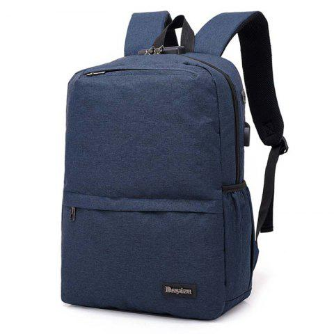 USB Port Oxford Multifunction Fabric Backpack - STEEL BLUE