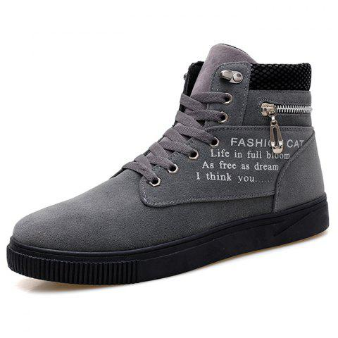 High-top Casual Sports Shoes for Man - GRAY 41