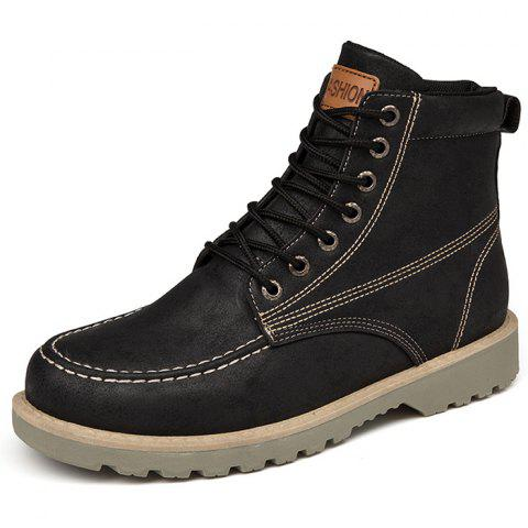 Fashion High-top Outdoor Casual Boots for Man - BLACK 42