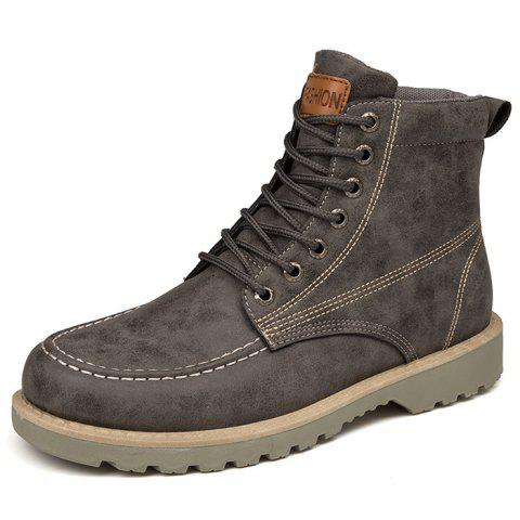 Fashion High-top Outdoor Casual Boots for Man - GRAY 39