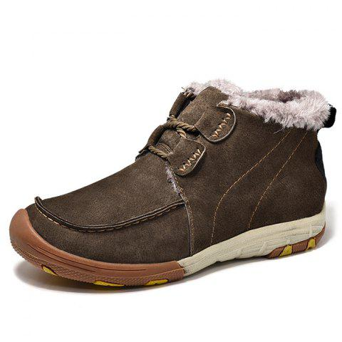 Outdoor Thick Hiking Boots for Man - BROWN 40