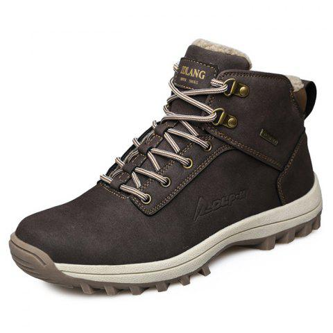 Trendy Comfortable Warm Classic High-top Snow Boots for Men - DEEP BROWN 44