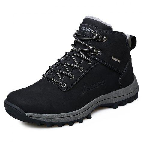 Trendy Comfortable Warm Classic High-top Snow Boots for Men - BLACK 39