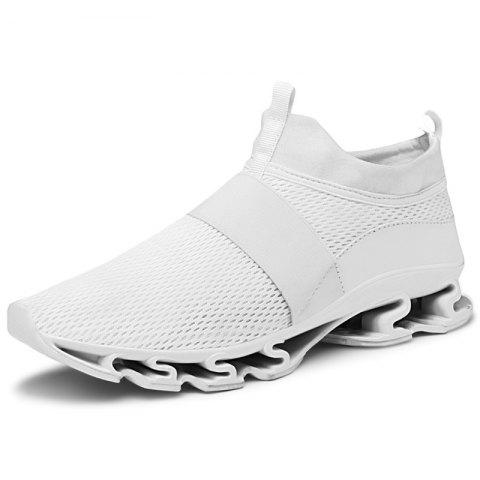 89191b225407 Trendy Men Air Mesh Casual Shoes Anti-slip Wear-resisting Sneakers - WHITE  40