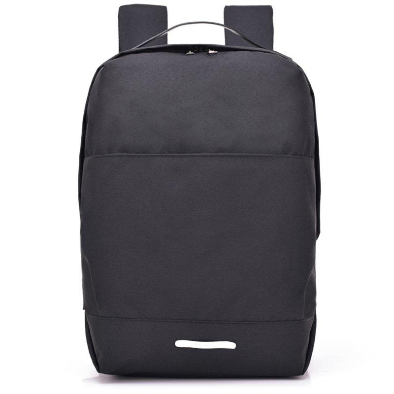 USB Charging Port Design Waterproof Backpack - JET BLACK
