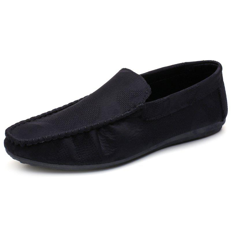 Fashion Comfortable Soft Sole Flat Shoes for Man - BLACK 42