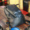 Fashion PU Leather Practical Backpack - BLACK