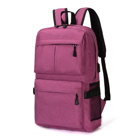 HUWAIJIANFENG Business Laptop Backpack with USB Charging Port - PLUM
