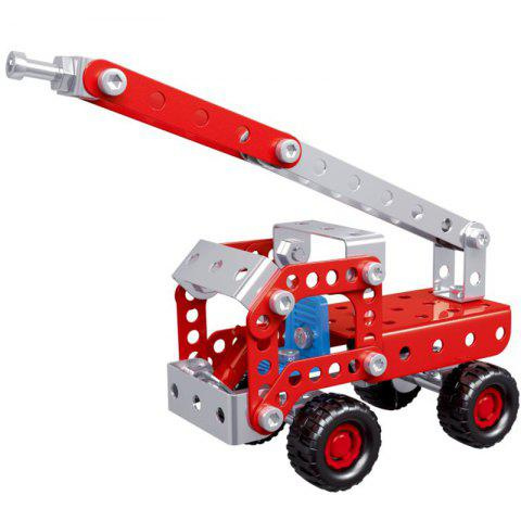 4 in 1 Fire Truck Series Puzzle Toy Set for Children - RED