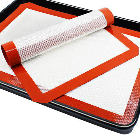 Silicone Baking Heat Non-slip Safe Mat Cut Corner Cooking Pad 1pcs - FIRE ENGINE RED