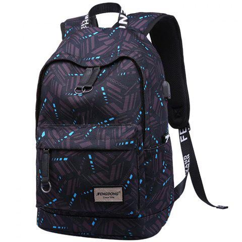 Oxford Fabric Man Waterproof Backpack - 001
