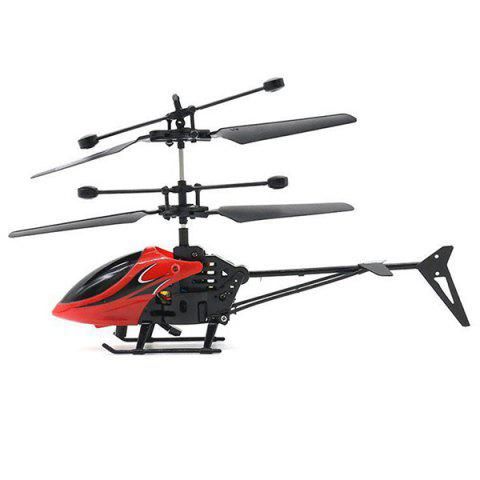 833 - 1 Induction Helicopter Infrared Sensor Control Suspension Toy for Kids - RED