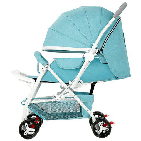 Zhierle Foldable Two-way Push Stroller for Baby - TIFFANY BLUE