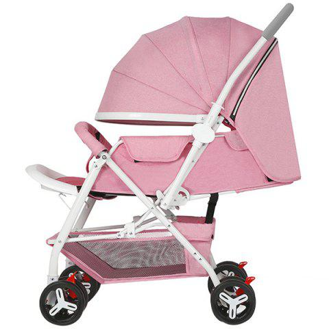 Zhierle Foldable Two-way Push Stroller for Baby - PIG PINK