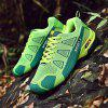 Breathable Matching Color Mesh Cloth Sneakers - YELLOW GREEN 42