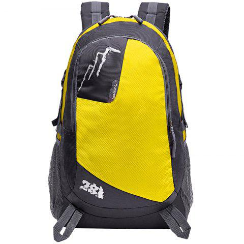 HUWAIJIANFENG 1018 Waterproof Nylon Backpack - RUBBER DUCKY YELLOW