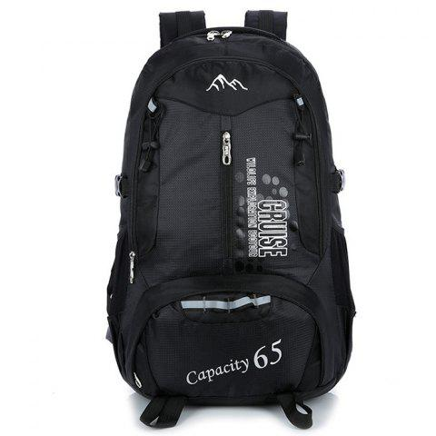HUWAIJIANFENG Nylon Large Capacity Backpack - BLACK