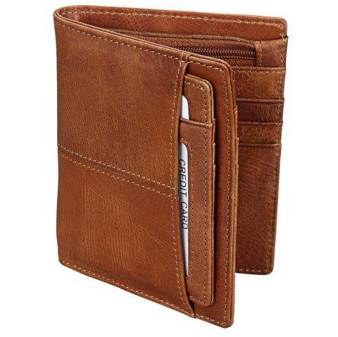 Anti-theft Leather Short Men's Wallet - PUCE