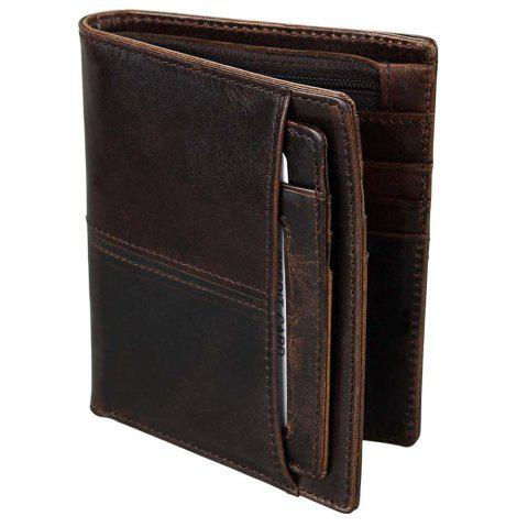 Anti-theft Leather Short Men's Wallet - BLACK