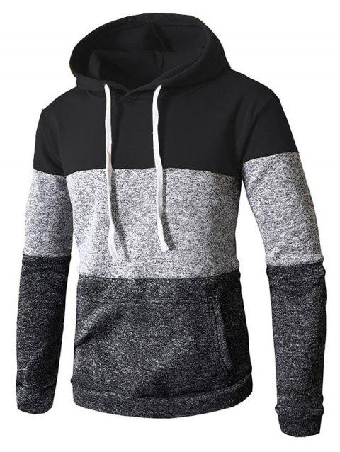 Stylish Casual Hoodie for Men - BLACK 3XL