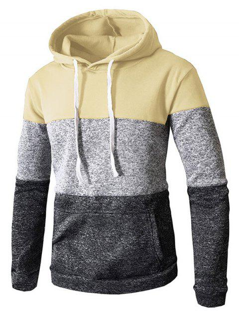 Stylish Casual Hoodie for Men - BEIGE 3XL