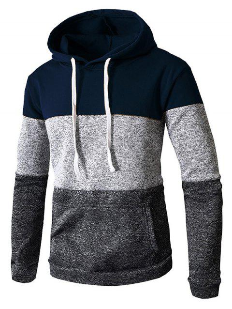 Stylish Casual Hoodie for Men - CADETBLUE 3XL