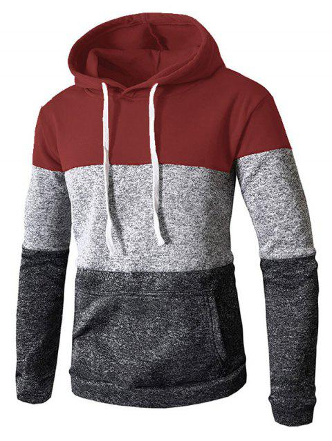 Stylish Casual Hoodie for Men - RED WINE 3XL