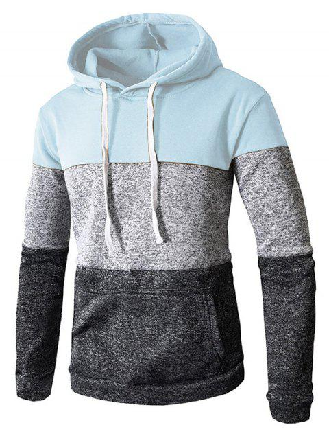 Stylish Casual Hoodie for Men - ROBIN EGG BLUE 3XL