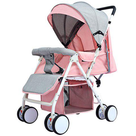 Foldable Portable Baby Stroller for 0 - 36 Month Kid - PINK