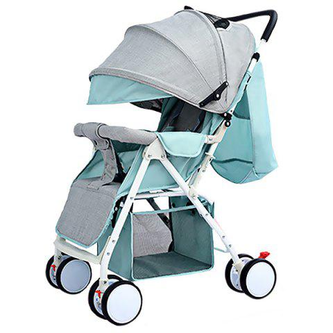 Foldable Portable Baby Stroller for 0 - 36 Month Kid - AZURE