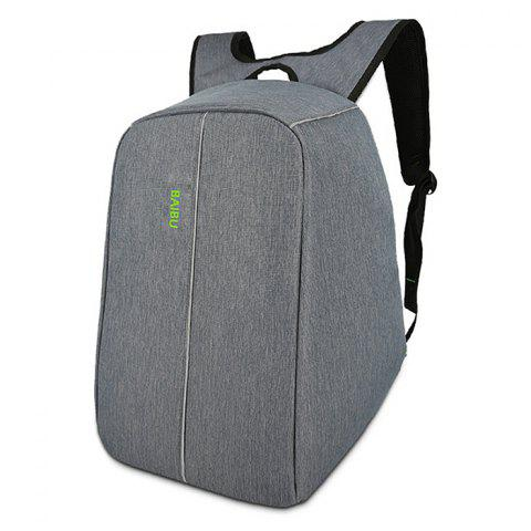 Baibu Stylish Large Capacity Chargeable Casual Traveling Backpack for Men - DARK GRAY