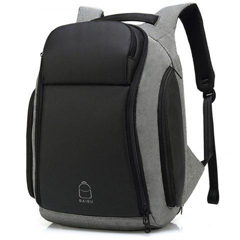 Baibu Waterproof Large Capacity Casual Man Backpack - DARK GRAY