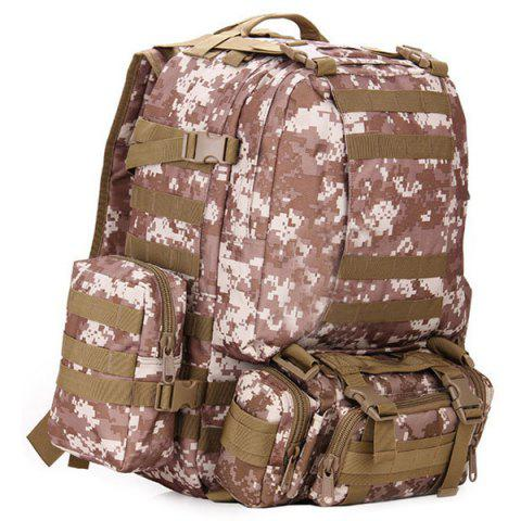 HUWAIJIANFENG Large Storage Waterproof Durable Backpack for Outdoor Sports - DIGITAL DESERT CAMOUFLAGE