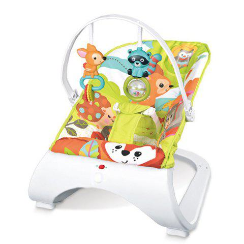 Baby Electric Swing Chair Massage Vibration Cradle Seat with Music - multicolor B
