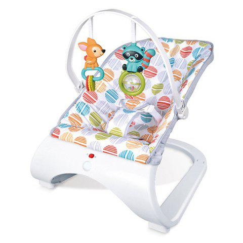 Baby Electric Swing Chair Massage Vibration Cradle Seat with Music - multicolor A