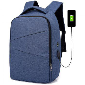 Men's Large Capacity Travel Backpack - BLUE