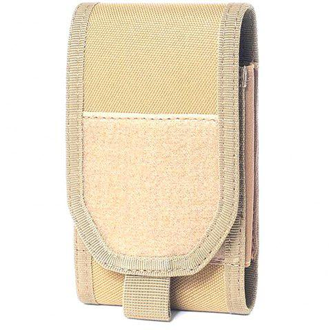 Multiple Function Magic Tape Phone Bag for Outdoor Sports - TAN