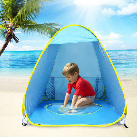 Children Outdoor Playing Beach Tent Automatic Camping Sun Shelter - DODGER BLUE 70 X 120 X 80CM