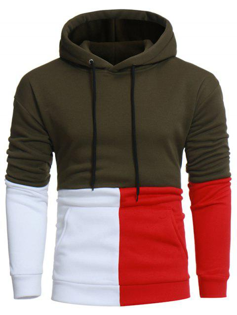 Fashion Pocket Sweatshirt Hoodie for Men - ARMY GREEN 3XL