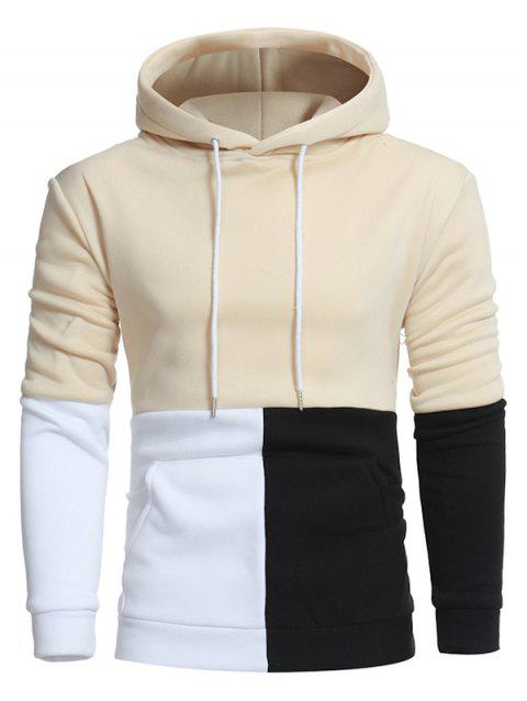 Fashion Pocket Sweatshirt Hoodie for Men - BEIGE 3XL
