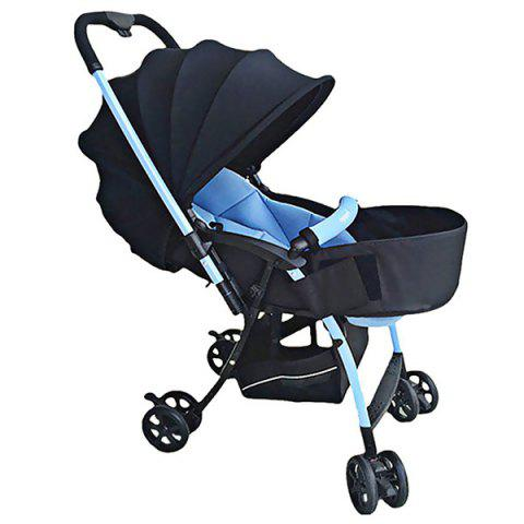Comfortable Stretch Seating Baby Stroller Pedal - BLACK