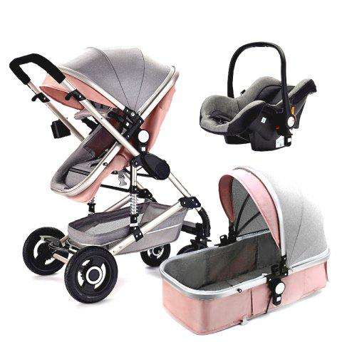 Lightweight Travel Baby Stroller Cart High Landscape for Safety Seat - PINK BUBBLEGUM