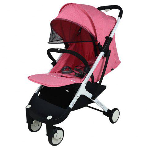 YOYAplus A09 Foldable Baby Stroller for 0 - 36 Month Kid - ROSE RED