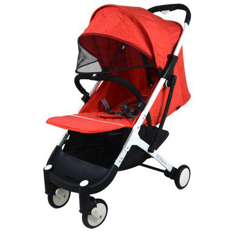 YOYAplus A09 Foldable Baby Stroller for 0 - 36 Month Kid - RED WINE